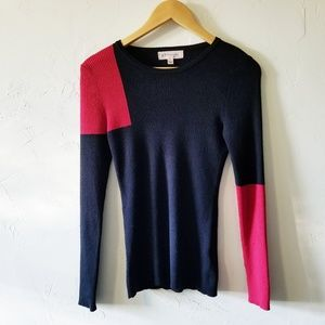 Philosophy Black Colorblock Lightweight Sweater